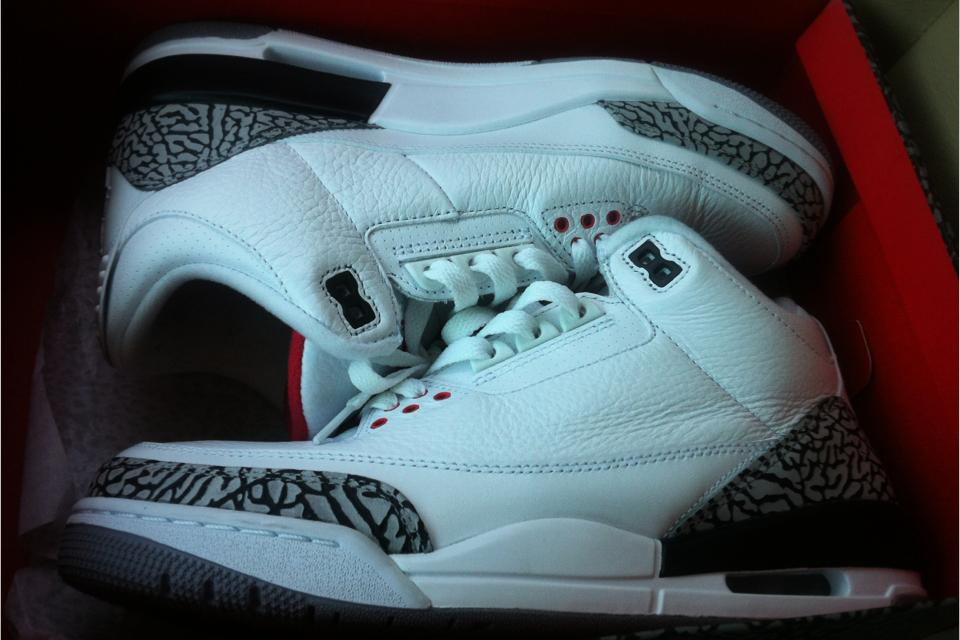 Jordan white cement 3s Large Photo