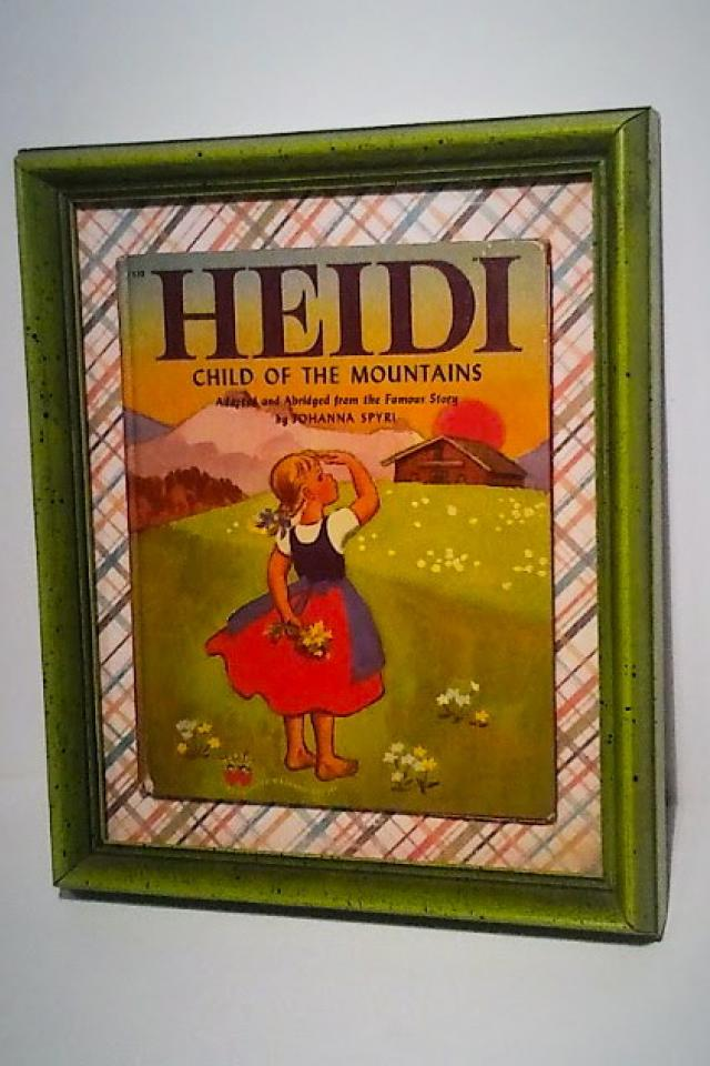 Gorgeous Framed First Edition Heidi Book Photo