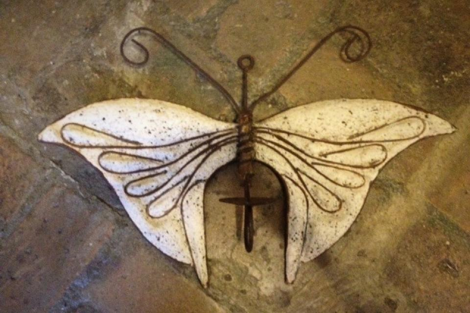 Outdoor Butterfly Wall Sconce Large Photo