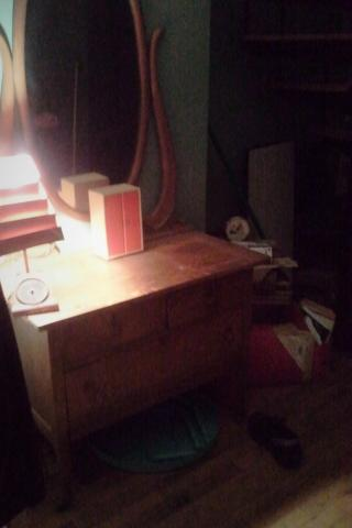 Antique chest with mirror Photo