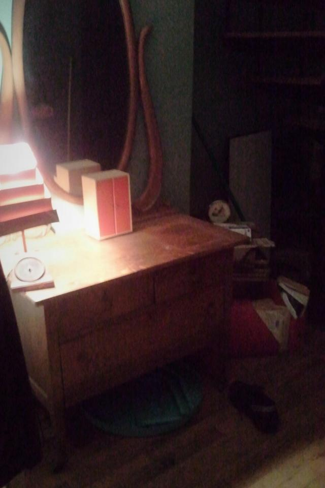Antique chest with mirror Large Photo