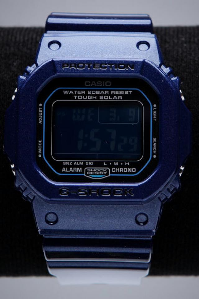 Casio G-Shock Glide Metallic Solar Blue Digital Watch Large Photo