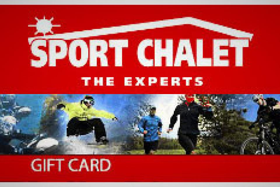 SPORTS CHALET  GIFT CARD  WORTH $342.00 Large Photo