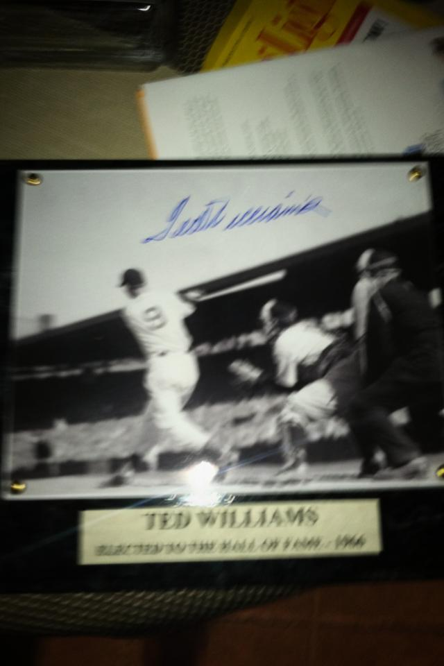 Ted Williams Signed autograph with COA Large Photo