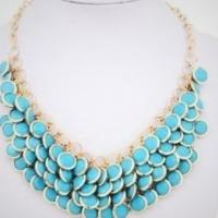 Turquoise bohemian necklace Photo