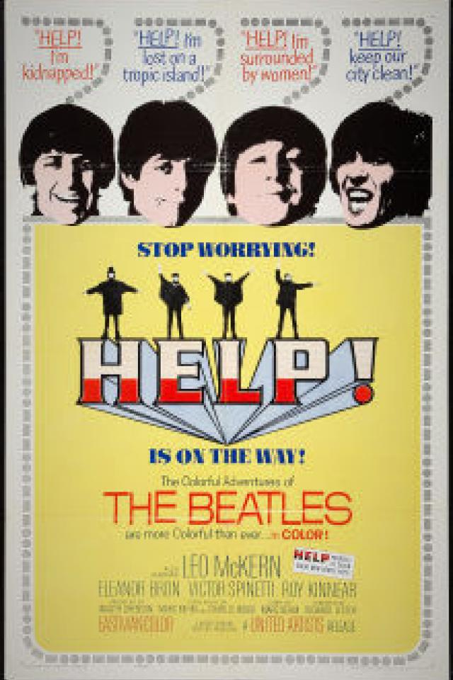 BEATLES HELP Original Movie Poster Large Photo
