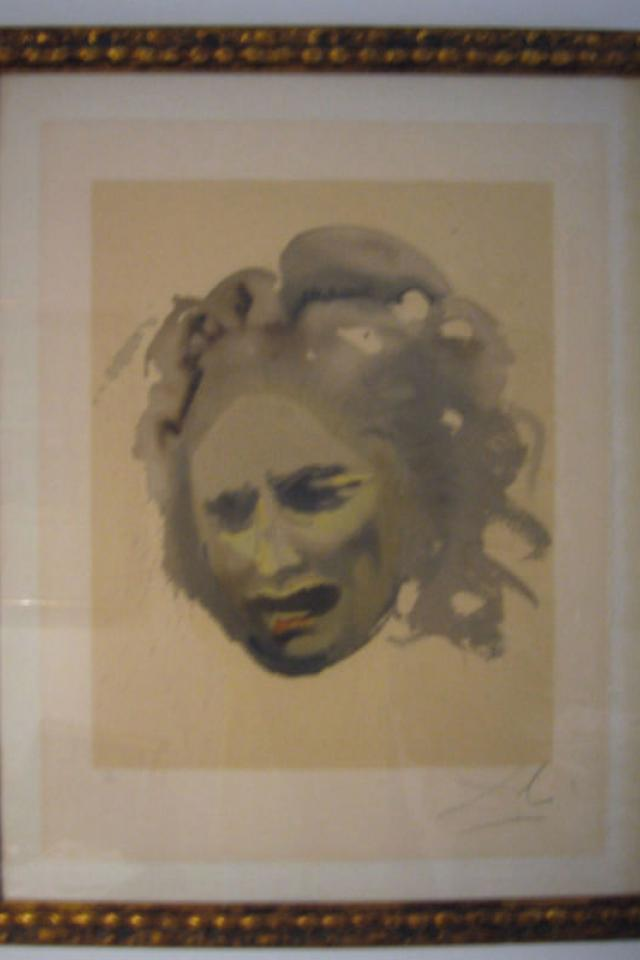Salvador Dali Signed 1968 Lithograph