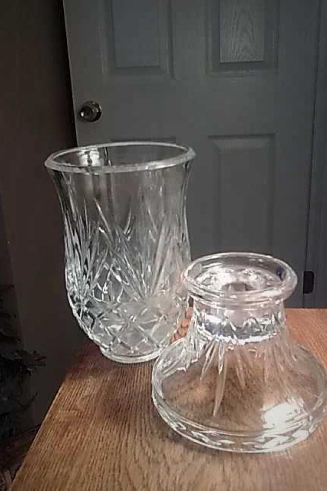 Crystal Huricane Candle Holder  Photo