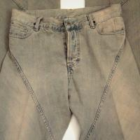 Rick Owens Drkshdw Berlin Bias JEANS Distressed Wash Over Blue Straight Leg Frayed Hems 28 Photo