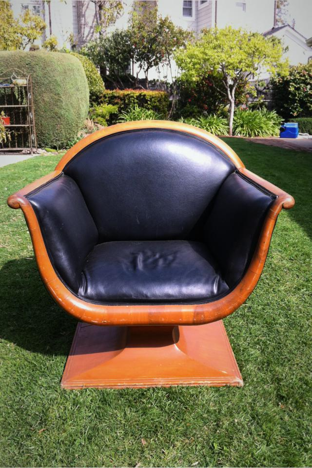Designer leather chair Photo