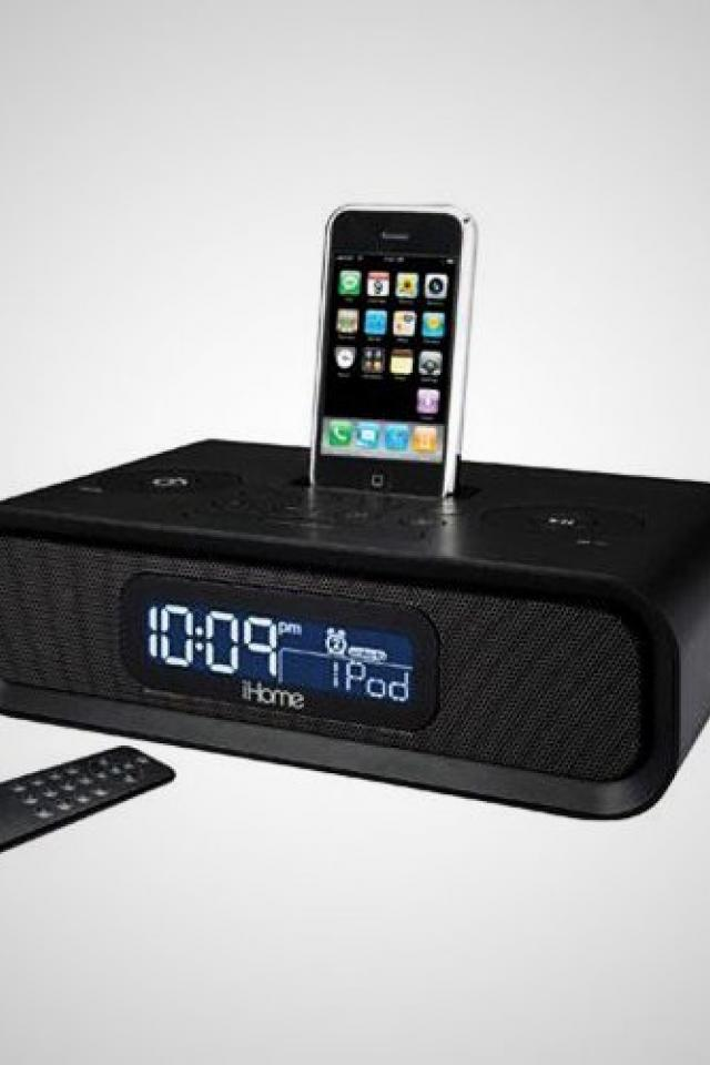 IPOD DOCKING STATION CLOCK RADIO HIDDEN NANNY CAMERA (Buy/Rent) Large Photo