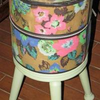 Vintage Hat Box Side Table Photo