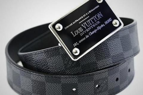 Louis Vuitton Damier Graphite Belt Photo