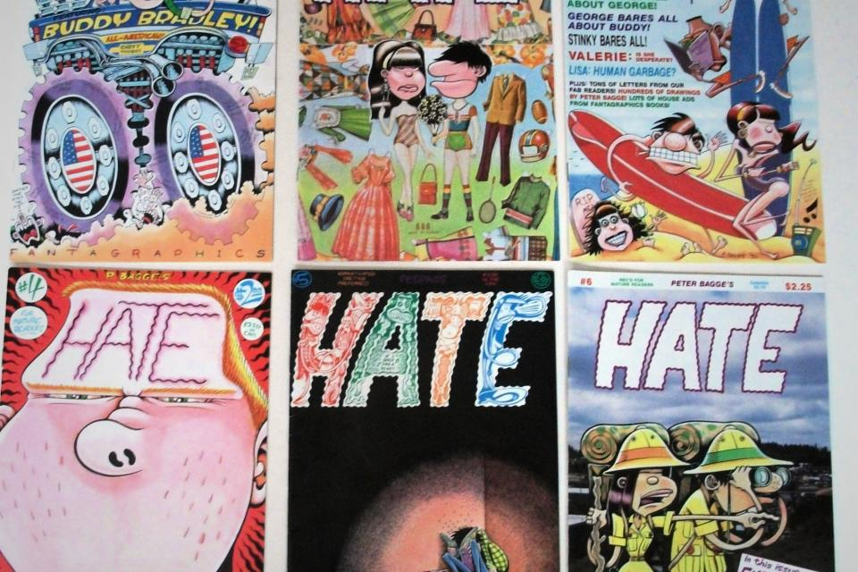 Alternative Comics: HATE by Peter Bagge:  Issues 1-24 + other stuff Large Photo