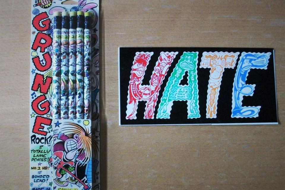 80s Pencil Set by HATE Comic Book Artist Peter Bagge + Sticker of his comic HATE Large Photo