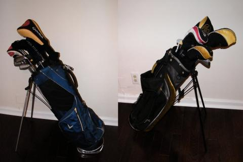 2 SETS OF GOLF CLUBS 1 ADULT & 1 JR (RIGHT HANDED) Photo