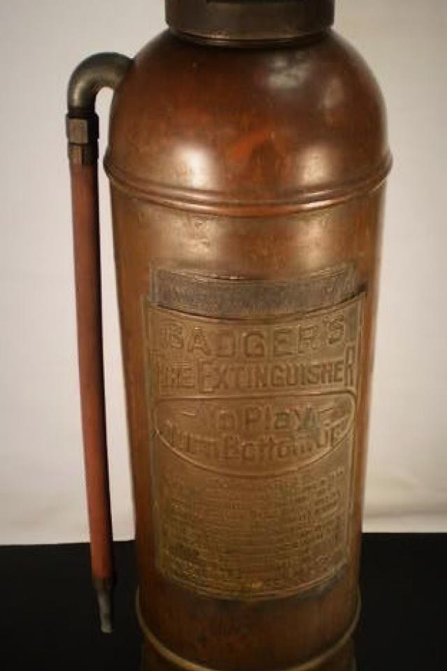 Antique Copper Fire Extinguisher Photo