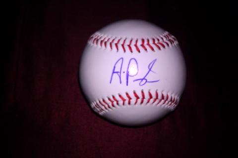 ALbert Pujols AUTOGRAPHED BASEBALL on Sweet Spot w/COA plus an added Pujols GIFT, FREE!!! GET YOURS NOW!!!! Photo