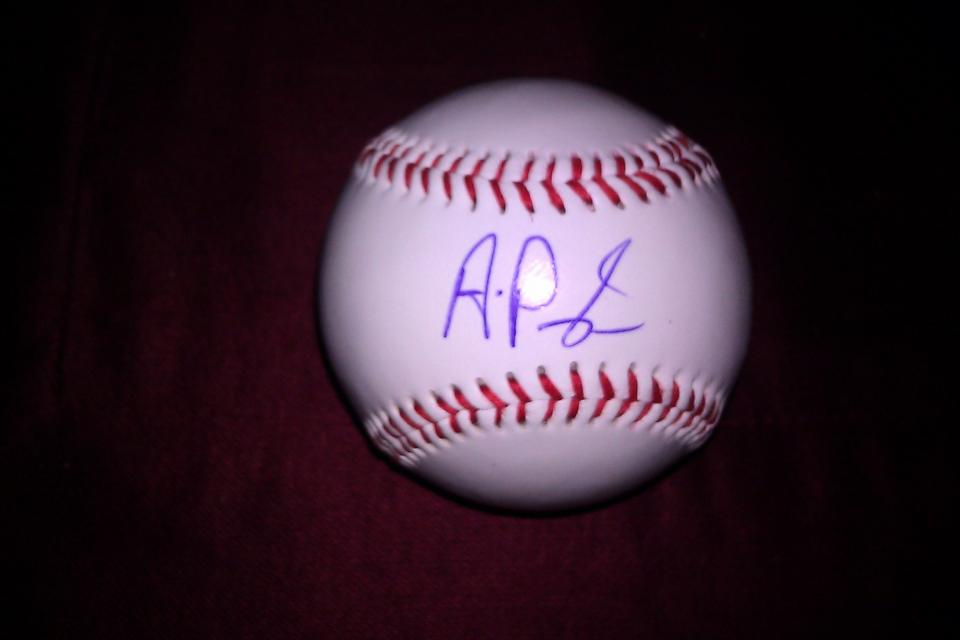 ALbert Pujols AUTOGRAPHED BASEBALL on Sweet Spot w/COA plus an added Pujols GIFT, FREE!!! GET YOURS NOW!!!! Large Photo