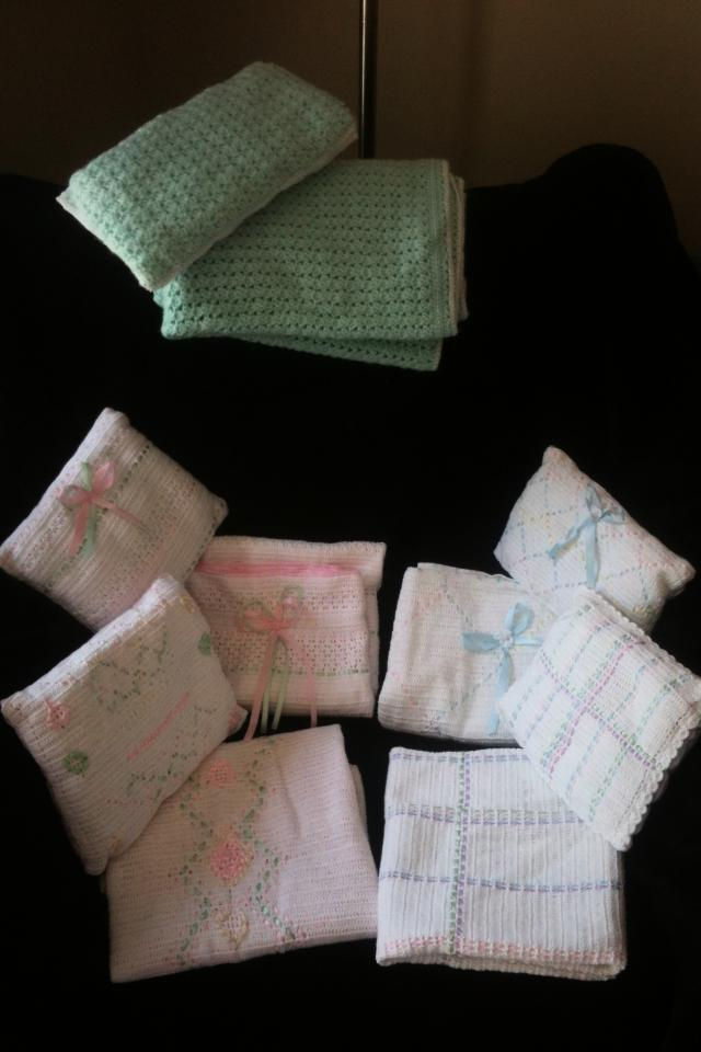 Hand made baby blankets with pillow set Large Photo