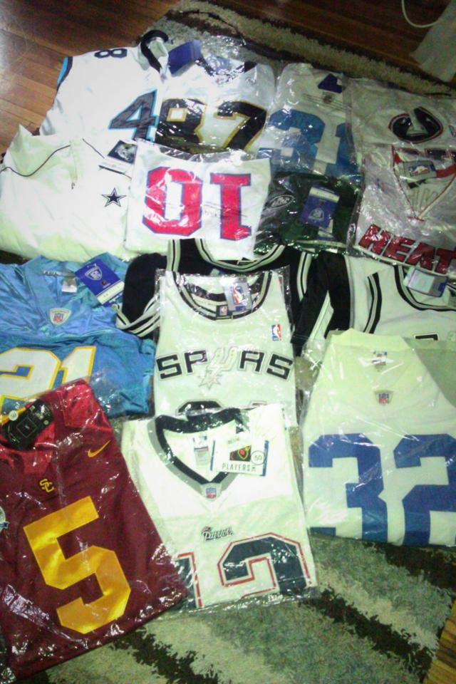NFL and NBA onfield Jerseys- all brand new with tags and in plastic Large Photo