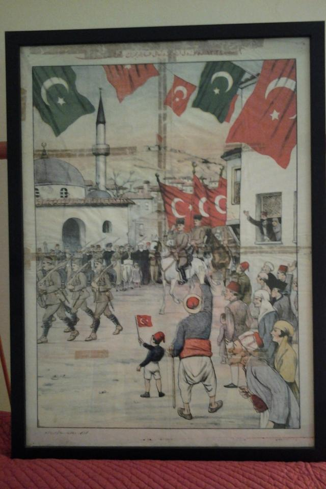 Framed Turkish Poster - Early Twentieth Century Photo