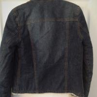 Womens Abercrombie & Fitch Denim Jacket With Shearling Lining Size Small Photo