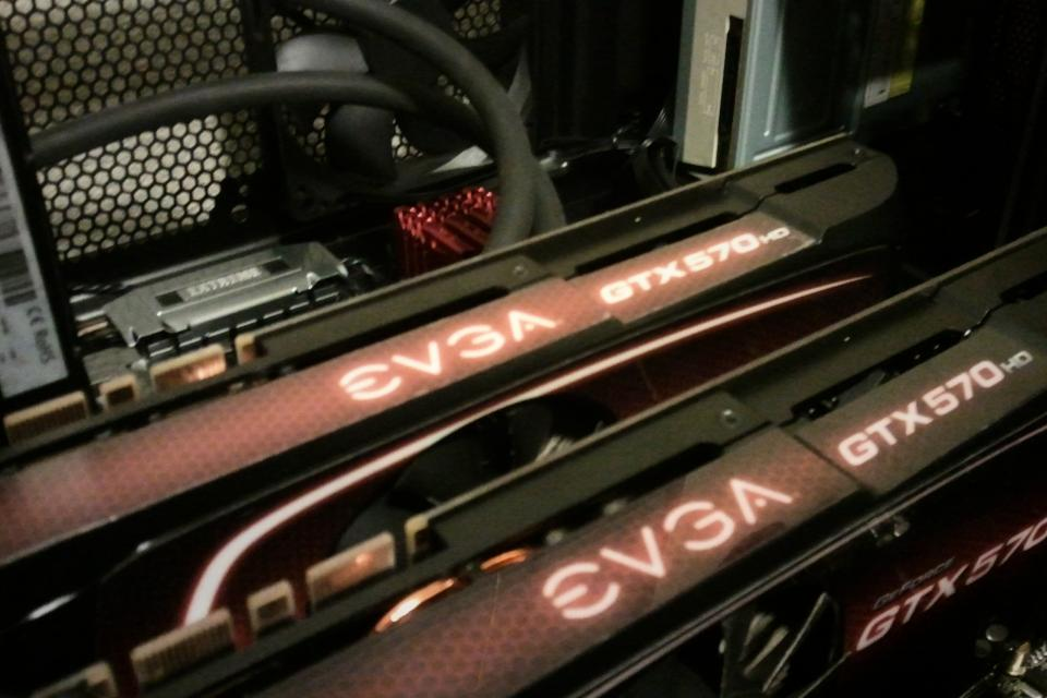 Superclocked EVGA 570 HD Video Cards Large Photo