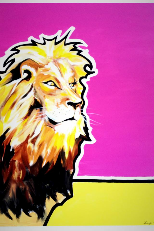 Lion pop art painting 2 Photo