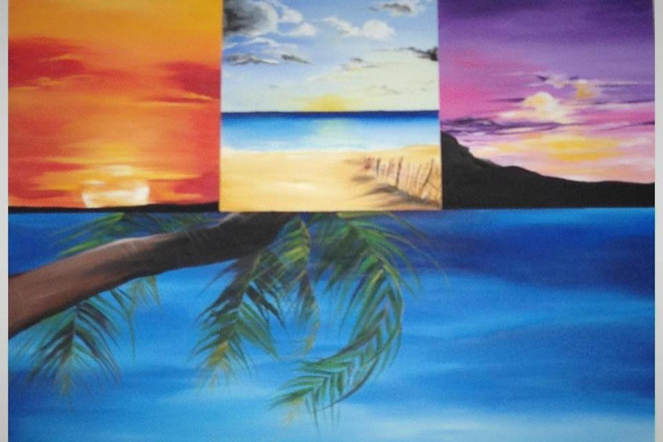 original painting - Sunsets  Large Photo