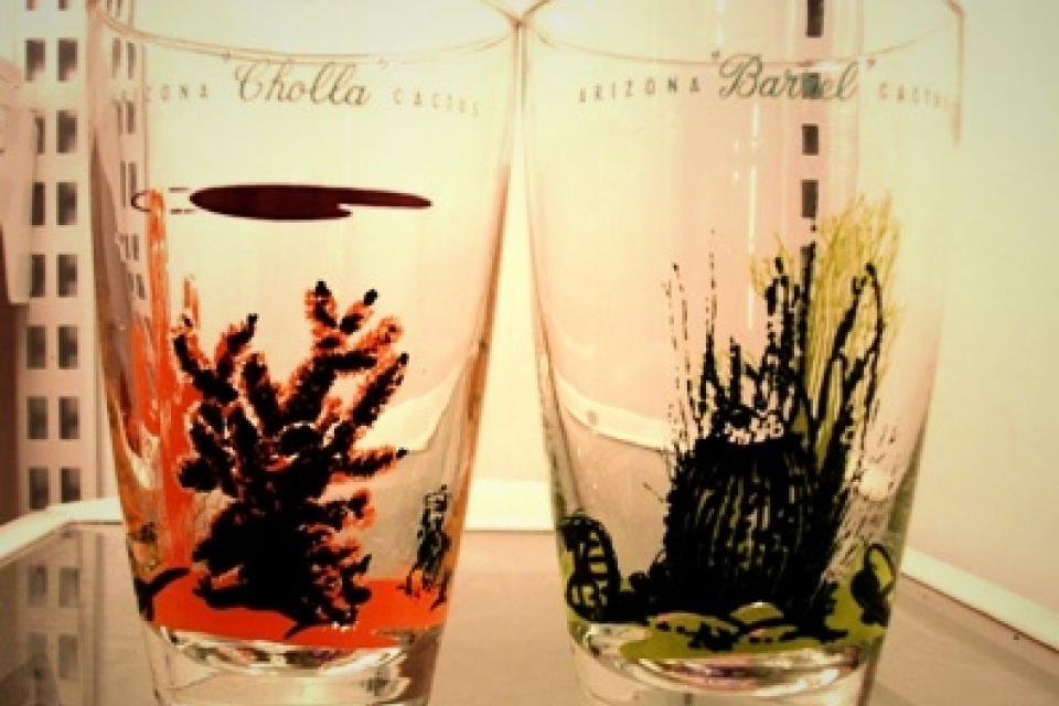 Pair of Vintage Glasses from the 50s Large Photo