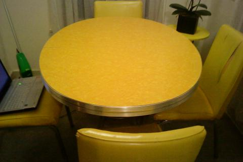 1950s Vintage Formica Table - Oval Photo