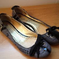 Womens Juicy Couture Mara Gray Ballet Flats 7.5 Photo