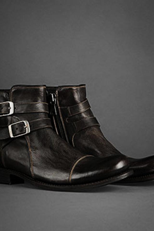$900 John Varvatos Brixton Buckle Boots, Size 9 BRAND new, never worn Photo