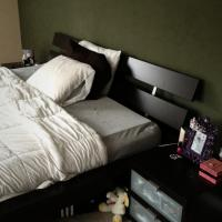 King Black/Brown bed frame with 2-drawer Photo