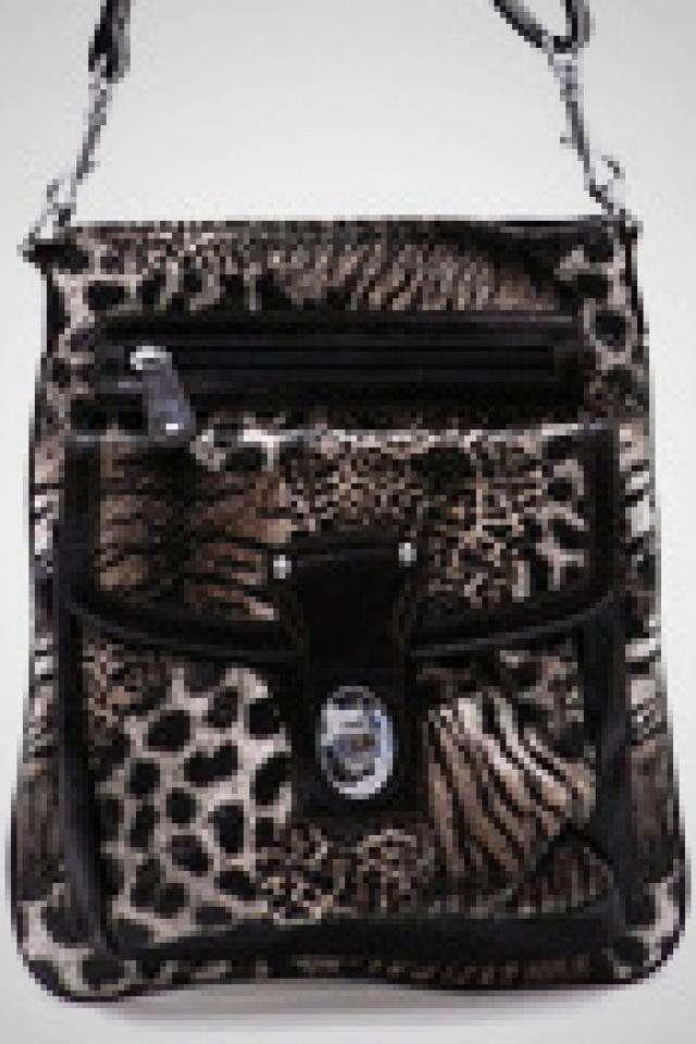 Animal Print Cross Body Hand Bag  Photo