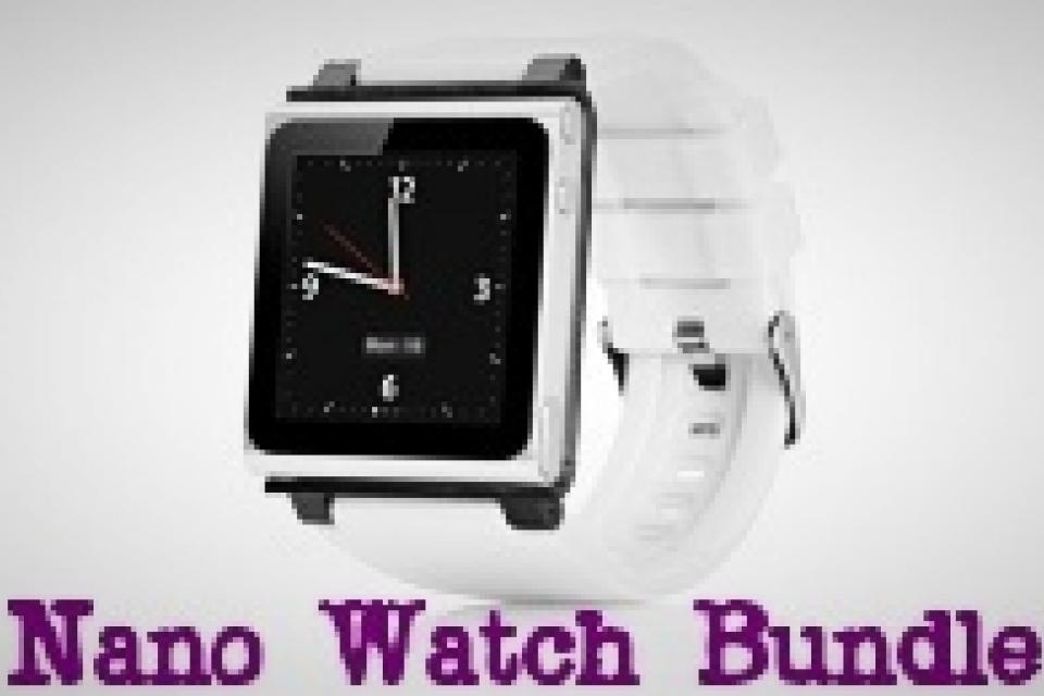 IPOD NANO 6G WRISTWATCH (Silver &White) Large Photo