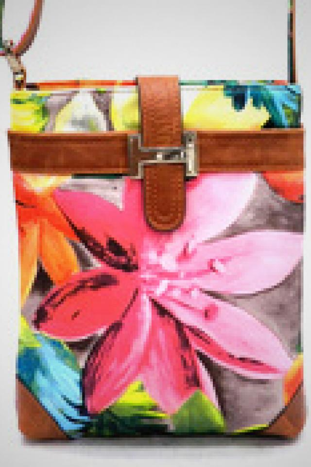 Floral Cross Body Hand Bag  Large Photo