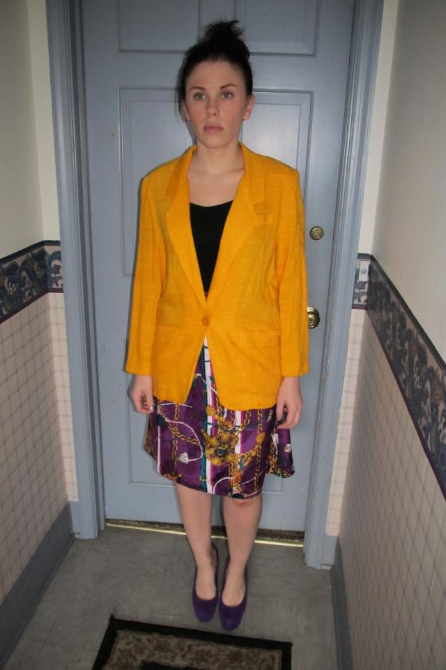 Yellow Blazer Size 6 Petite Large Photo