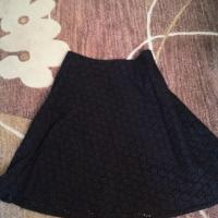 Gap Black Eyelet A-Line Skirt Size 2 Photo