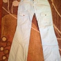 Womens Joie Light Blue Cargo Bootleg Pants 25 Photo