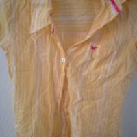Womens Abercrombie & Fitch Yellow Button Down Blouse XS Photo