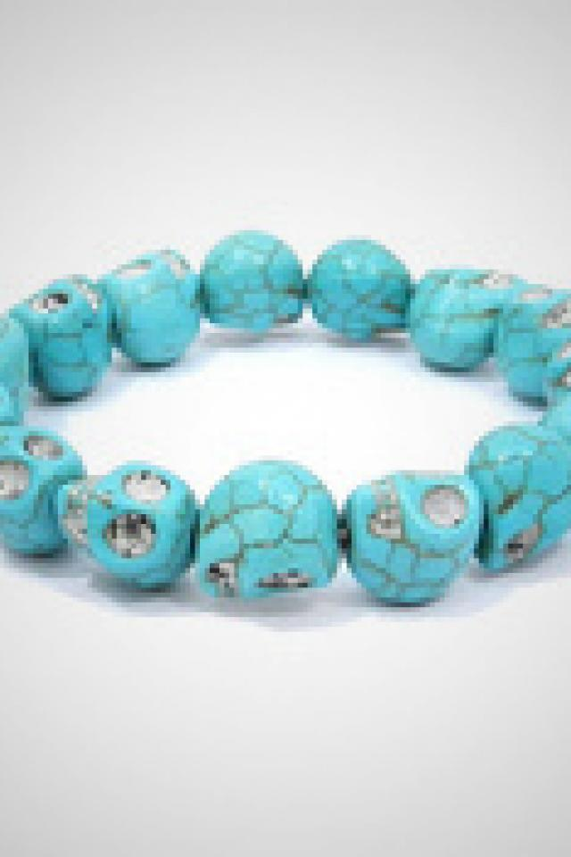 Turquoise Skull Bracelet Photo