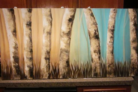 Woods Acrylic Painting Photo