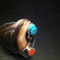 Signed Native American Old Pawn Ring Photo