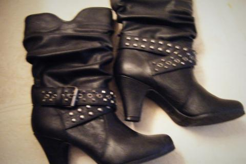 Candies Black Boots 9 1/2 Photo