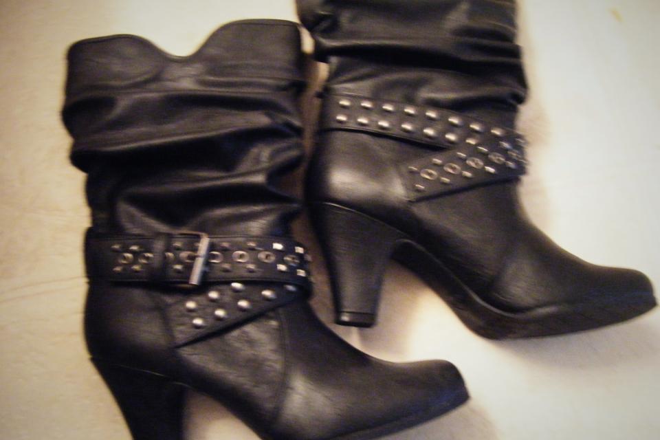 Candies Black Boots 9 1/2 Large Photo