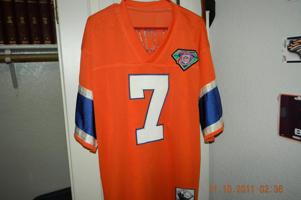 AUTHENTIC MITCHELL AND NESS JOHN ELWAY JERSEY NEVER WORN Large Photo