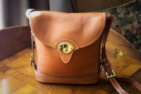 Vintage Dooney & Bourke All Weather Leather Spectator Bag  Photo