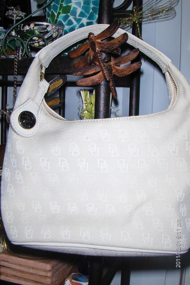 Authentic Dooney & Bourke Creme Beige Leather Hand Bag~NWOT!Or Best Offer!! Photo